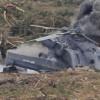 سقوط مروحية روسية في حمص بسوريا