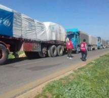 قافلة ثانية من المساعدات الإنسانية تصل إلى منطقة عفرين