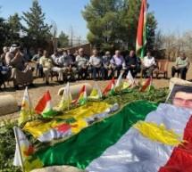 تيار المستقبل الكوردي في سوريا يستذكر قائده مشعل تمو في ذكراه التاسعة في قرية الجنازية في مدينة درباسية