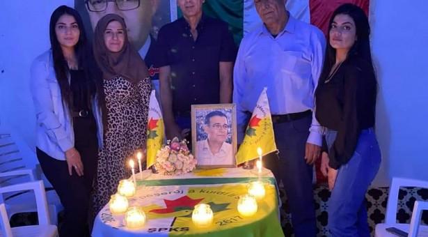 تيار المستقبل الكوردي في سوريا توقد الشموع في اليا تخليدا لذكرى الشهيد مشعل تمو
