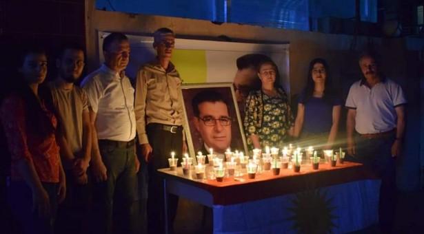 تيار المستقبل الكوردي في سوريا توقد الشموع في هولير تخليدا لذكرى قائده الشهيد مشعل تمو
